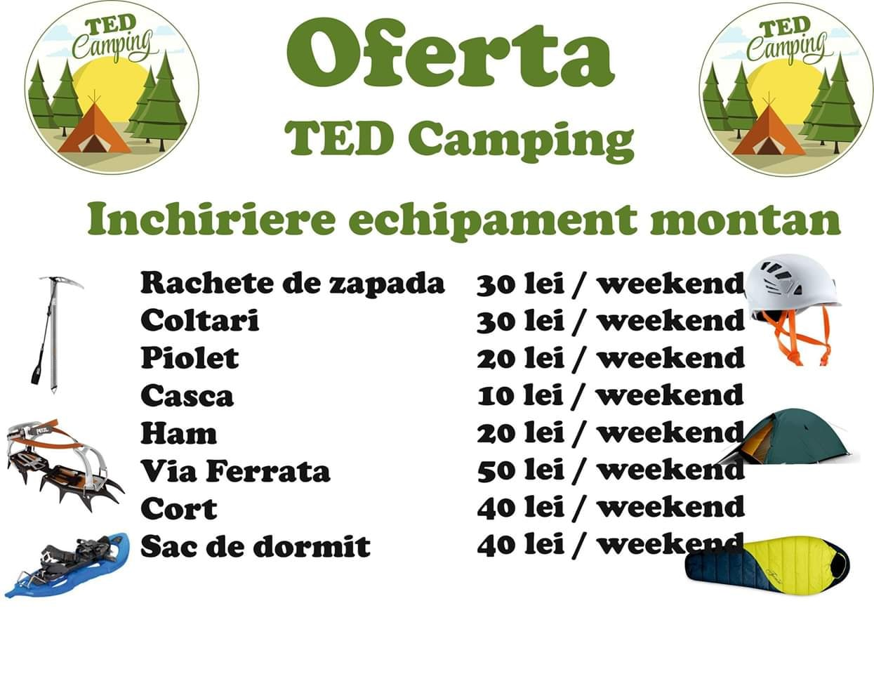 TED CAMPING-Inchieriere Echipament Montan
